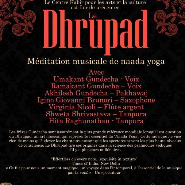 DHRUPAD - Méditation musicale du Naada Yoga