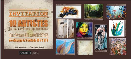 Exposition collective chez Hachem Laval