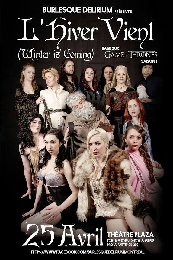Game of Thrones vu par Burlesque Delirium