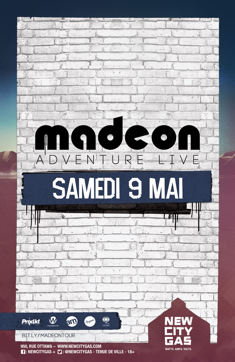 Madeon au New City Gas | Samedi 9 Mai