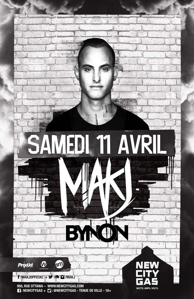 MAKJ au New City Gas | Samedi 11 avril
