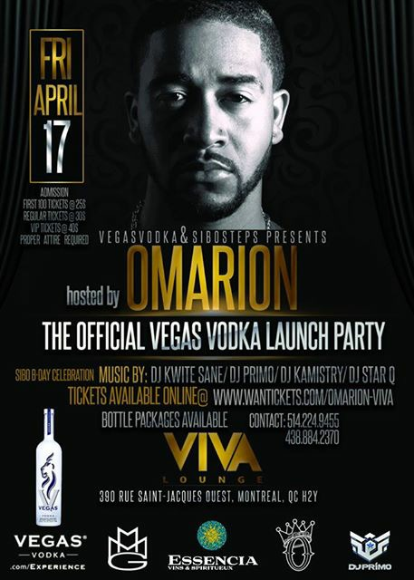 Omarion hosting The Official Vegas Vodka Launch Party