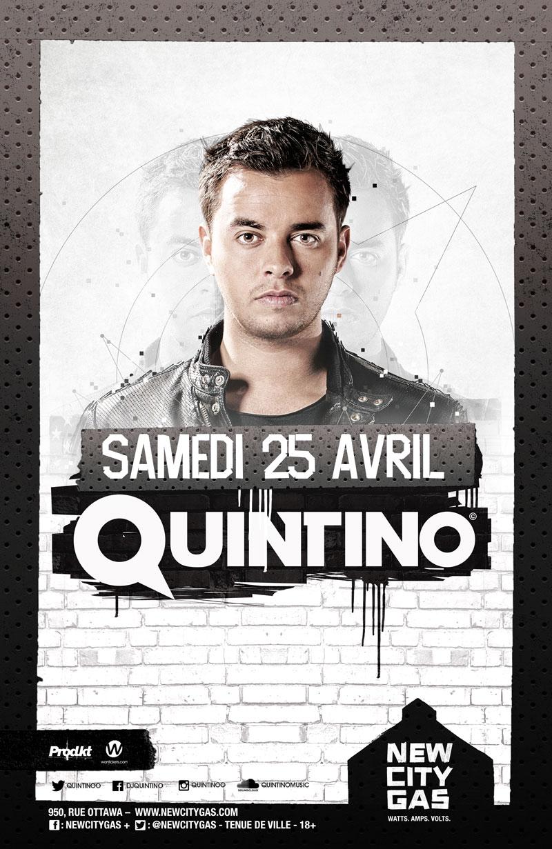 Quintino au New City Gas | Samedi 25 Avril