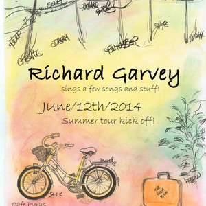 Richard Garvey with Uncle Dan Henshall at The Yellow Door (April 17, 2015)