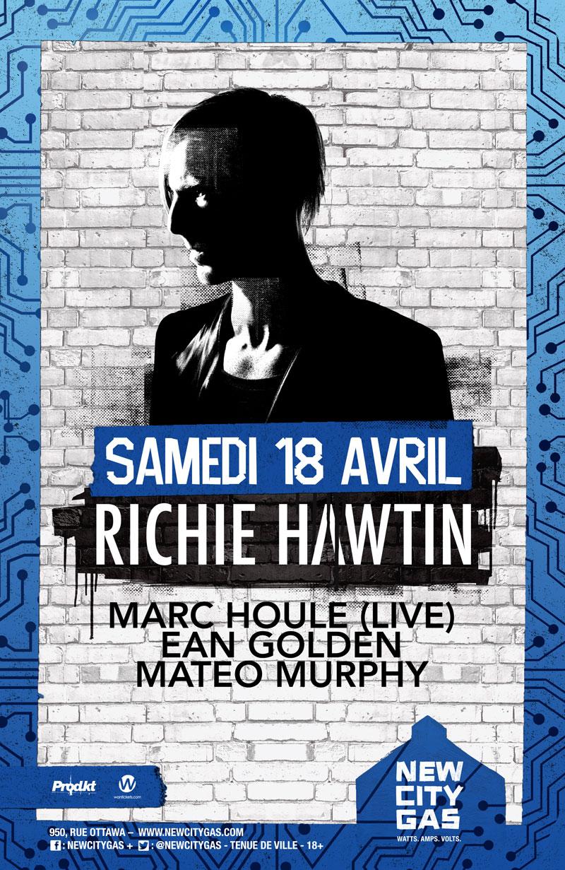 Richie Hawtin au New City Gas | CNTRL TOUR | Samedi 18 Avril