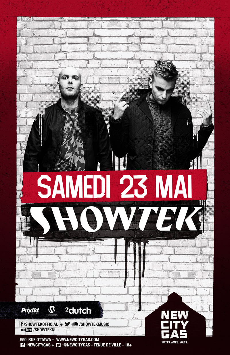 Showtek au New City Gas | Samedi 23 Mai