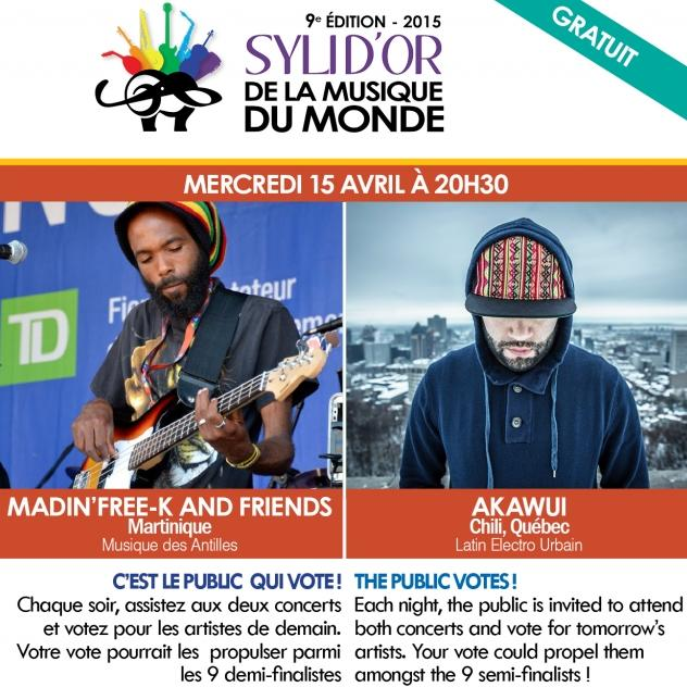 Syli d'or 2015 | MADIN'FREE-K + AKAWUI