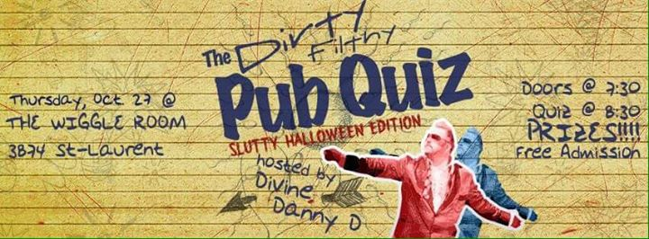 the dirty filthy pub quiz slutty halloween edition. Black Bedroom Furniture Sets. Home Design Ideas