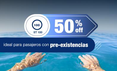 50% off hasta 60 días de viaje - ST100