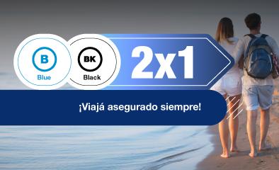 2x1 hasta 60 días de viaje - blue black