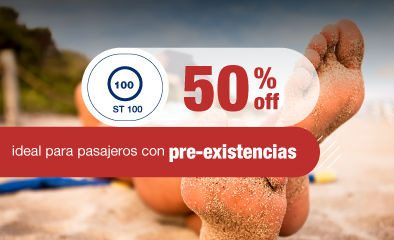 50% off hasta 60 días de viaje