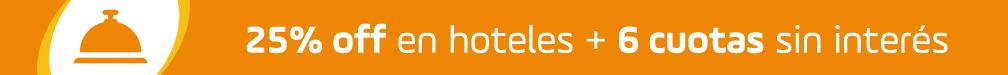 Banner 25% off en HOTELES