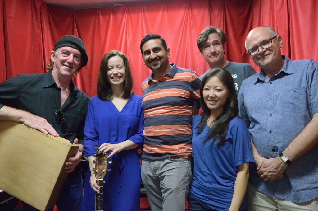Melanie with the Song Talk Radio team