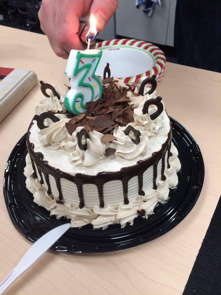 3rd Anniversary Cake