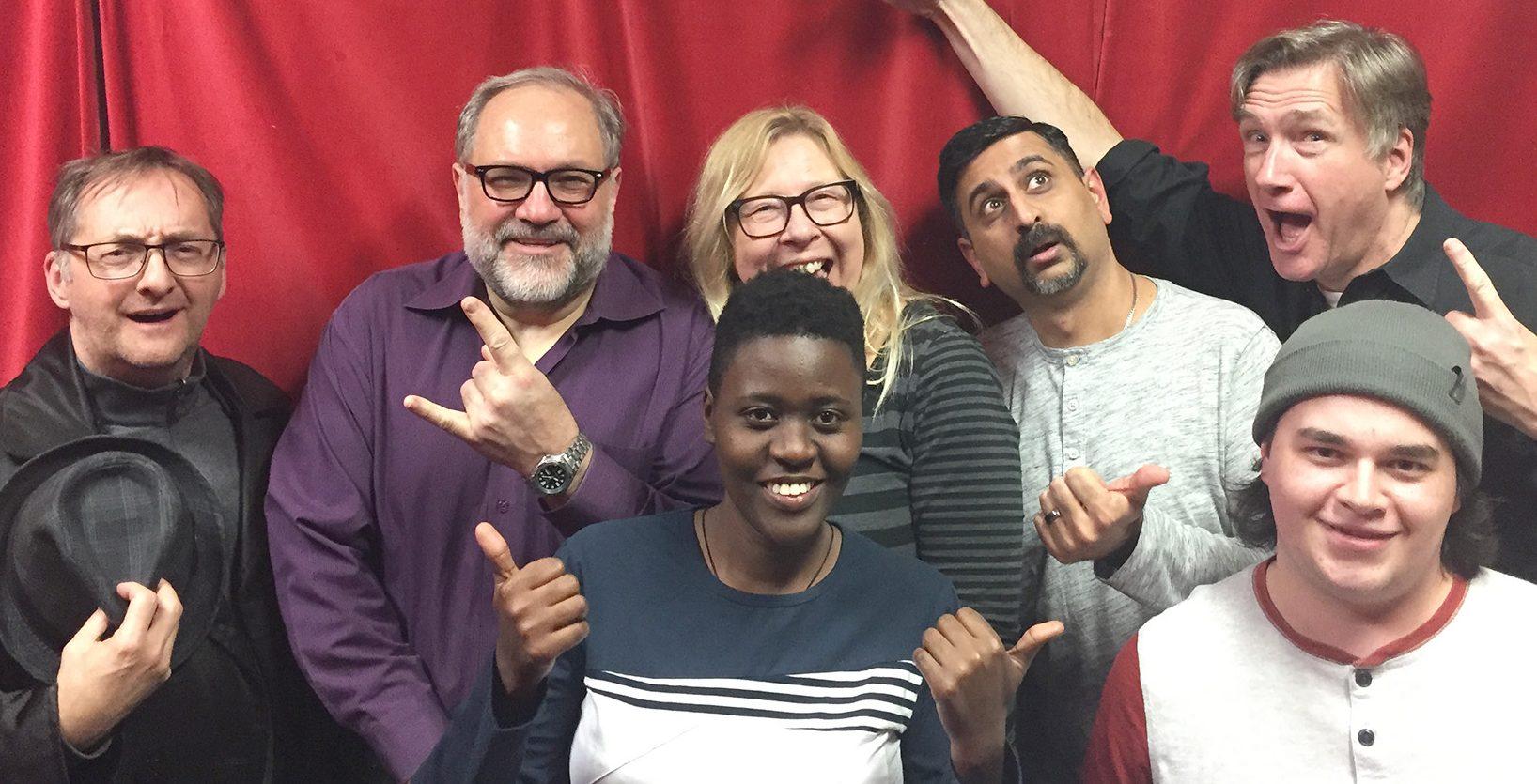 Back row: Michael, Blair, Linda, Neel, and Phil. Front row: Ritah and Micah