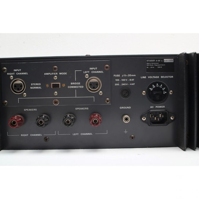 Studer A68 (Vintage) Stereo Power Amplifier