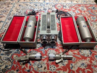 Neumann U48 Vintage Pair with VF14's and Dual Supply