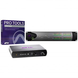 Avid HD Native Thunderbolt + HD I/O 16×16 Digital with Ultimate Software