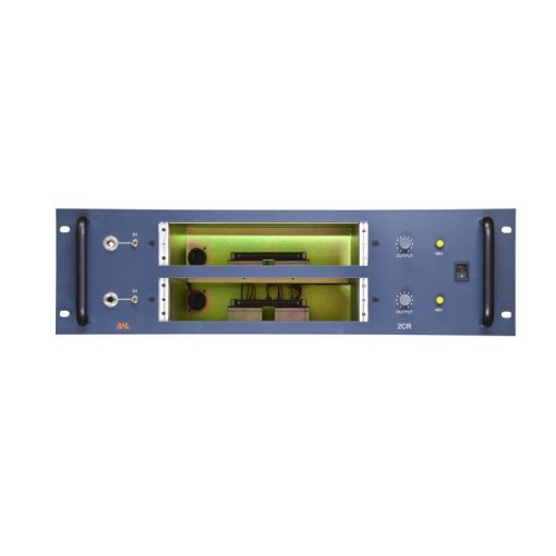 BAE 2CR Dual Channel Powered Rack - Blue