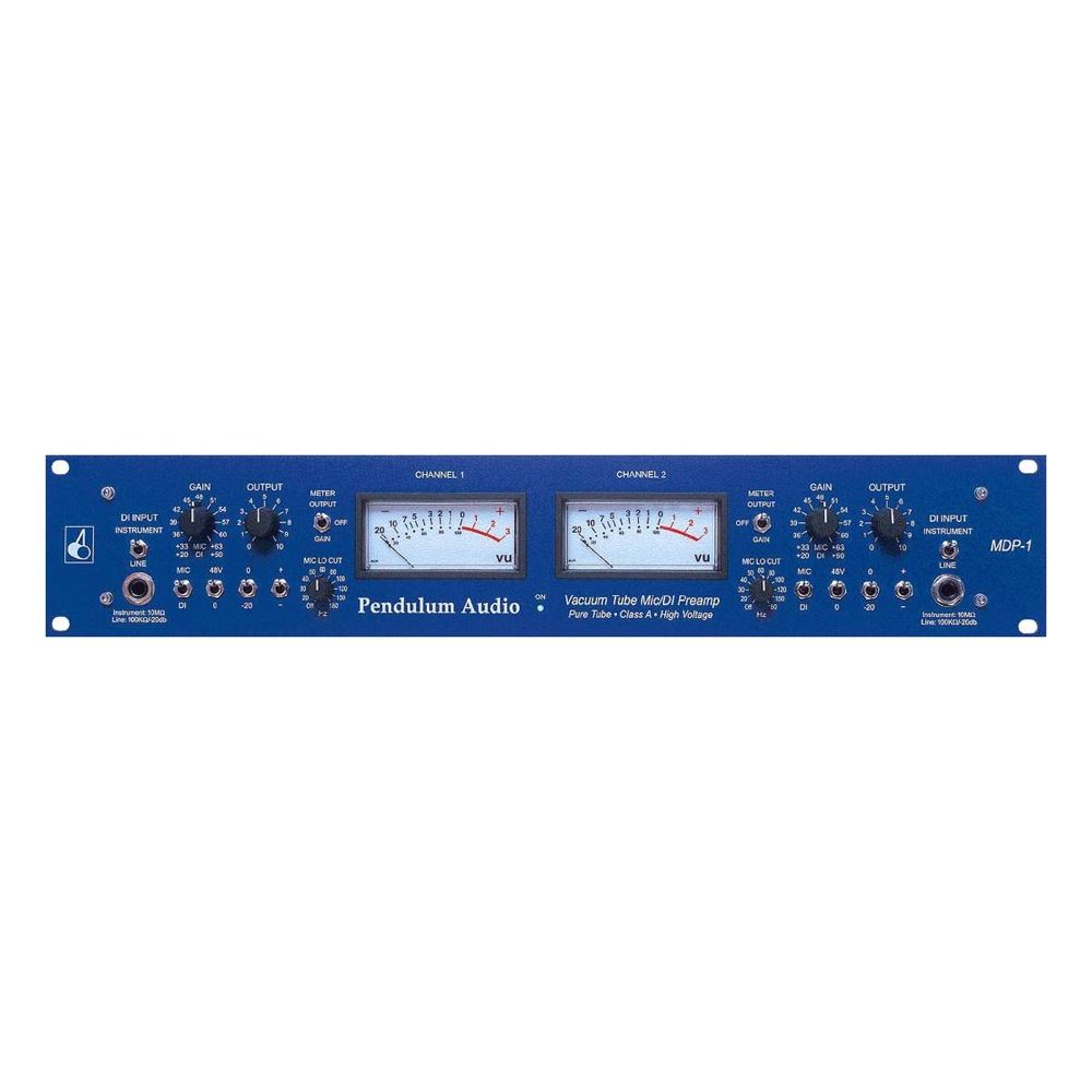 Pendulum Audio Mdp1 Vacuum Mic Di Preamp Sonic Circus The Preamplifier With Dual Recording