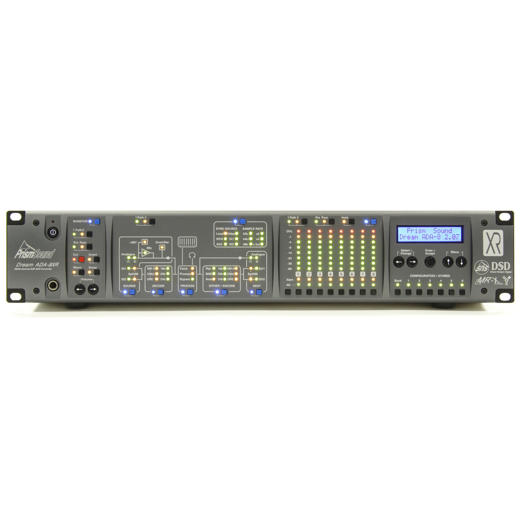 Prism sound ada-8xr multi channel converter 8 in 8 out » sonic circus.