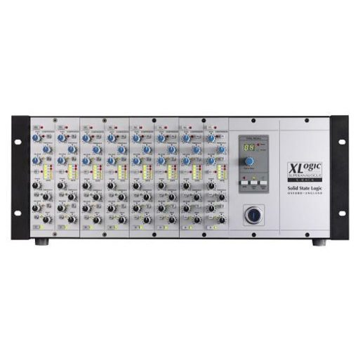 SSL X-Rack fitted with 8 Dynamics Modules