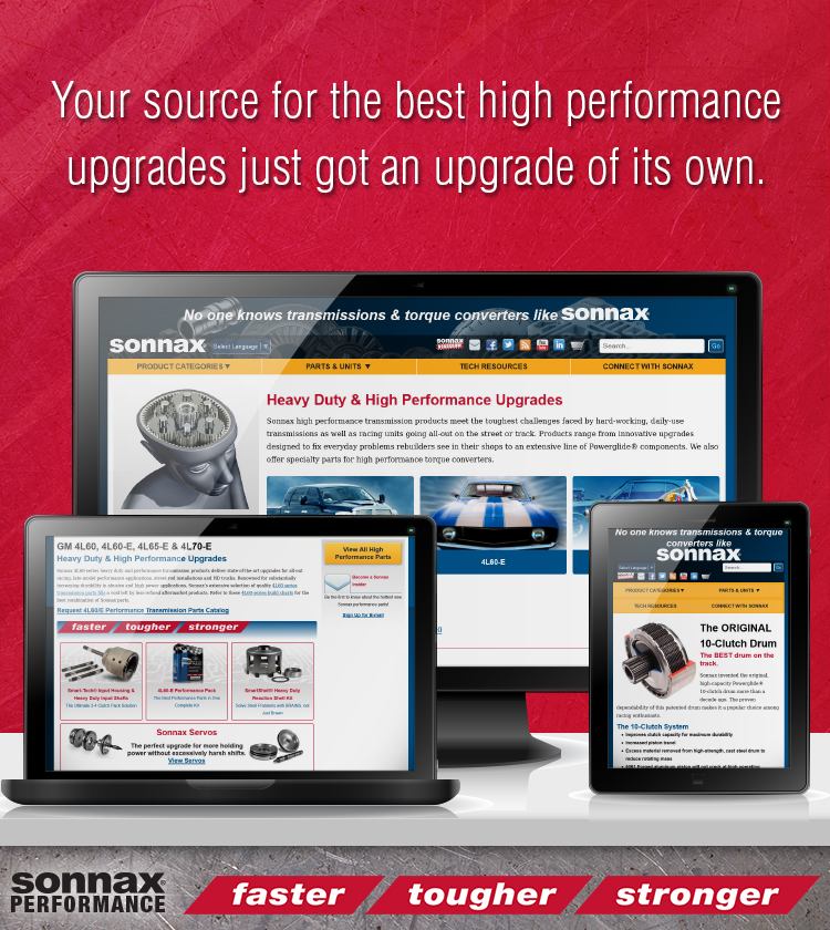 NEW! Sonnax High Performance Web Pages
