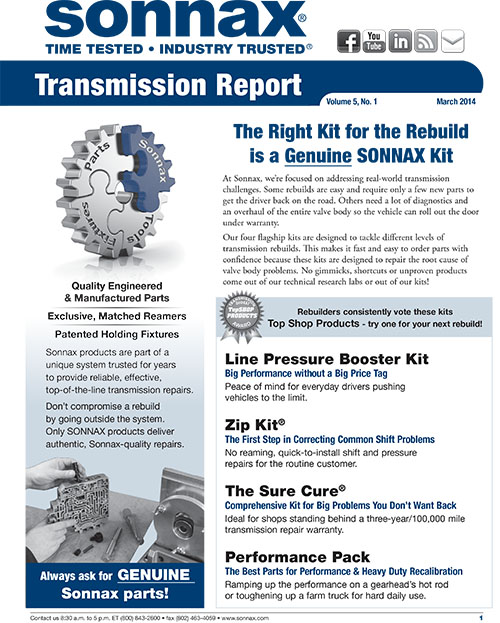 March Transmission Report Newsletter
