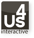 A great web designer: Us4 Interactive, Houston, TX logo