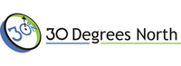 A great web designer: 30 Degrees North, LLC, Houston, TX logo