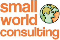 A great web designer: small world consulting, Washington DC, DC logo