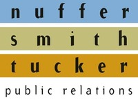 A great web designer: Nuffer, Smith, Tucker Public Relations, San Diego, CA logo