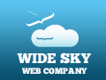 A great web designer: Wide Sky Web Company, Rockville, MD logo