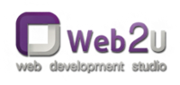 A great web designer: Web2U, Saint Petersburg, Russia logo