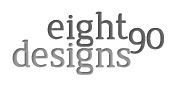 A great web designer: eightninety, Dallas, TX logo