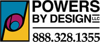 A great web designer: Powers by Design, LLC, Chicago, IL logo