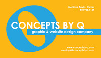 A great web designer: CONCEPTS BY Q, Baltimore, MD