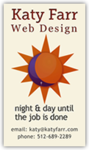 A great web designer: Katy Farr Web Design, Austin, TX logo