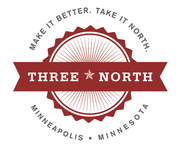 A great web designer: Three North Agency, Minneapolis, MN logo