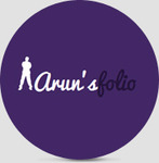 A great web designer: Arun's Folio, Boston, MA logo