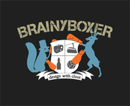 A great web designer: Brainy Boxer, Paris, France logo