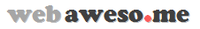 A great web designer: webaweso.me, New York, NY logo