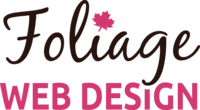 A great web designer: Foliage Web Design, Portland, ME logo