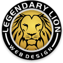 A great web designer: Legendary Lion Web Design, Traverse City, MI logo