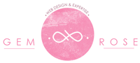 A great web designer: Gem Rose designs, Minneapolis, MN logo