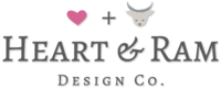 A great web designer: Heart & Ram Design Co. , Charleston, SC logo