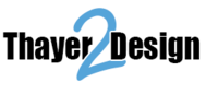 A great web designer: Thayer2Design, Syracuse, NY logo