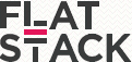 A great web designer: Flat Stack, New Orleans, LA logo
