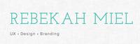 A great web designer: Rebekah Miel, Durham, NC logo