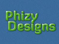 A great web designer: Phizy Designs, Winnipeg, Canada logo
